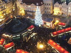 Prague Christmas Markets already have their most prominent feature. The best Christmas market is in the Old Town Square, but there are two others in Prague. Prague Christmas Market, Best Christmas Markets, Christmas Markets Europe, Prague Old Town, Prague City, Prague Tours, Top European Destinations, Travel Destinations, Prague Travel Guide