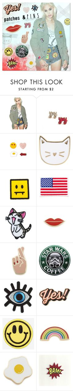 """""""Patch me up"""" by justlovedesign ❤ liked on Polyvore featuring Hazmat Design, Forever 21, Des Petits Hauts, Georgia Perry, Retrò, Anya Hindmarch, Big Bud Press and patchesandpins"""