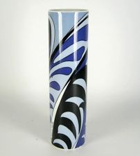 Rosenthal Porzellan Vase Emilio Pucci Design signiert Studio Linie ca. 22,5cm