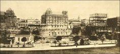 Construção do Palacete Prates no Vale do Anhangabaú  Ano: década de 1910  Autor: desconhecido