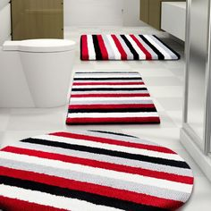 White Cotton Navy Red Stripe Turkish Peshtemal Towel Bathroom - Navy bath rug for bathroom decorating ideas