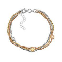 TRICOLOR, MultiStrand 14K Yellow and Rose Gold Over Sterling Silver Popcorn Bracelet with Beads! Samantha's Treasure Chest http://www.amazon.com/dp/B00KQ3T4V2/ref=cm_sw_r_pi_dp_KjlOtb0V2YPSBBS0