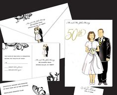 Online Invitations 50th Wedding Anniversary