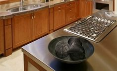 Brush finish Kitchen countertops 2016 Stainless Steel Countertops Cost   Types of Finishes, Grades, Brands
