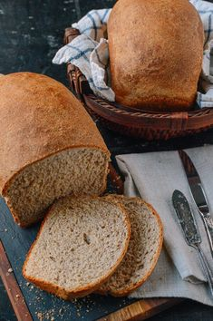 This whole wheat bread recipe makes perfect sandwiches and toast, and it has a rich, complex flavor. Give this whole wheat bread a try and you'll see how easy it is to make! Yeastless Bread Recipe, Multigrain Bread Recipe, Wheat Bread Recipe, Bread Recipes, Cooking Recipes, Fun Recipes, Cookbook Recipes, Drink Recipes, Best Whole Wheat Bread