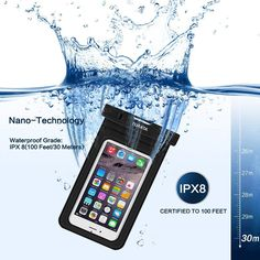 Waterproof Case Dry Bag with Armband for iPhone 6, 6 plus, 6s, 6s plus, 5, 5s, Samsung Galaxy s7,s7 edge[Up to 6.0''] Eco-Friendly PVC construction Pouch & IPX8 Certified to 100 Feet by TURATA