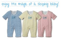 The Magic Sleepsuit™ is an innovative baby sleepwear product that provides babies with a cozy, calming, and safe sleep environment. The Magic Sleepsuit is designed for babies who are transitioning out of the swaddle, yet still need that warmth and contained feeling to aid in their sleep. The Magic Sleepsuit is designed to be used for back sleeping in the crib.
