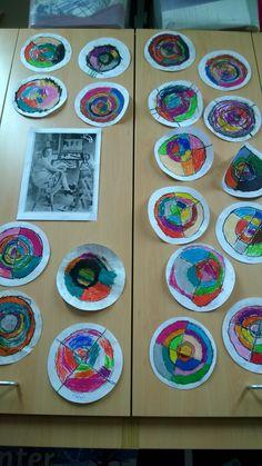 Sonia Delaunay circles inspired art.