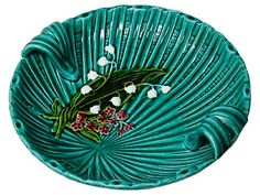 An early 20th century German majolica two-handled bowl