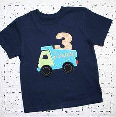 Garbage truck birthday shirt