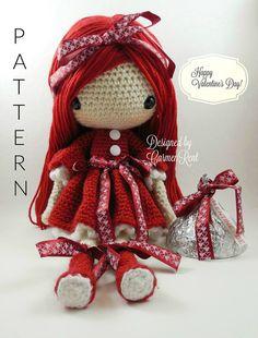 Valentina Amigurumi Doll Crochet Pattern von CarmenRent auf Etsy