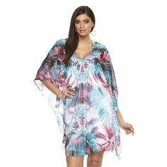 Plus Size Jennifer Lopez Print Caftan Dress, Women's, Size: