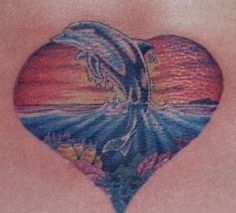 dolphin design | dolphin tattoo sunset Dolphin tattoo design, art, flash, pictures ...