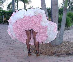 Frilly Skirt, Frilly Dresses, Satin Dresses, Dress Skirt, Flower Girl Dresses, Man Skirt, Nylons, Pink Photography, Stockings And Suspenders