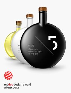 Five Olive Oil packaging by Designers United, Greece/ winner of reddot award 2012