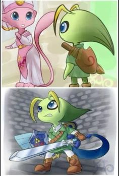 Celebi, The Hero of  Time (Pokémon x Zelda crossover)