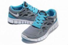 Nike Free Run 2 Mens Gray Jade Running Shoes - Click Image to Close