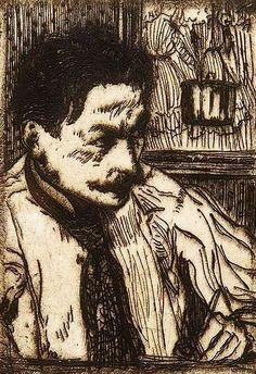 Self portrait of the Belgian artist Henri Evenepoel (1872-1899)