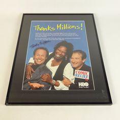 Signed Framed 1998 HBO Comic Relief VI Poster