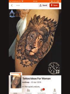 30 Epic Tattoo Ideas For Woman Lion Head Tattoos, Love Tattoos, Unique Tattoos, Beautiful Tattoos, Body Art Tattoos, Tatoos, Indian Headdress Tattoo, Buho Tattoo, Hidden Tattoos