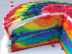 Rainbow Tie Dye Cake