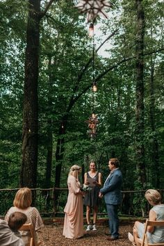 Melissa and Dan's Little Wedding in the Woods
