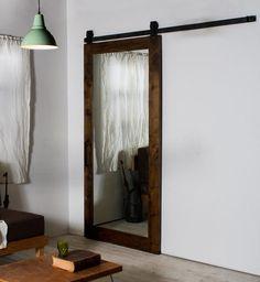 rustic-mirror-barn-door-system