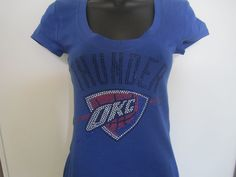 Oklahoma City Thunder rhinestone/Bling Fitted T-shirt