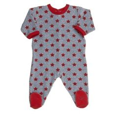 Petit Bateau infant clothes, soft on babies skin, grey velour with red trim. Features adorable red star print and back drop snaps. Designer Baby Clothes, Quiz, Baby Boy Or Girl, Baby Skin, Baby Outfits Newborn, Star Print, Infant, Rompers, Fashion Outfits