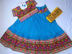 Navratri chaniya choli Blue colour with embroidery by mfussion
