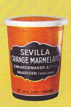 Sevilla Orange Marmelade van Zwaardemaker & Co. DE jam voor mannen. LOL!