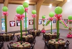 Pink & Green giant Balloons