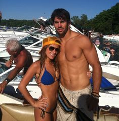 Eric Decker (Denver Broncos) and his gorgeous girlfriend, country singer Jessie James