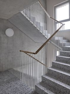Office Building Architecture, Stairs Architecture, Architecture Details, Interior Architecture, Stair Handrail, Staircase Railings, Stairways, Railing Design, Staircase Design