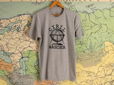 CYRIL WANDER T SHIRT Old Tools, Wander, Stitch, Prints, Cotton, Mens Tops, T Shirt, Leather, How To Wear