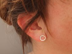 Silver Ear Studs  Sterling Earrings  Ring by IdiosyncraticThings, £18.00