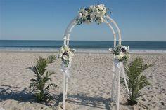white wedding arches for beach weddings | Beach Wedding Arbors