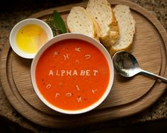 I couldn't help myself. I'm such a smart ass. What else would you write in a bowl of alphabet soup?  #humor #funny #pic