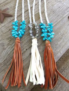 Beaded Necklace with Briolette Detail and by GoldenstrandJewelry, $130.00