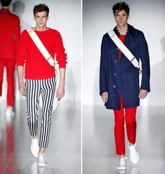 Menswear Gucci spring summer 2015 red and blue