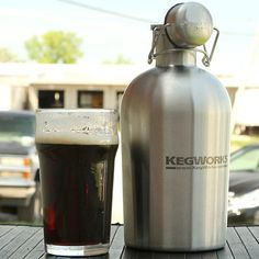 Stainless Steel Beer Growler - $24.95 - That's a STEAL... on STEEL. ;)