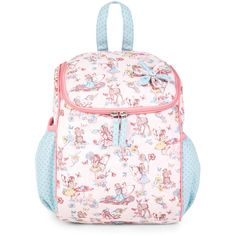 Monsoon Fairy Tea Time Rucksack ($25) ❤ liked on Polyvore featuring bags, backpacks, print bags, pattern backpack, pink bag, backpacks bags and rucksack bag