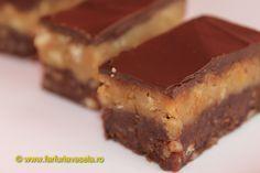 Prajitura cu biscuiti, nuci si glazura de ciocolata
