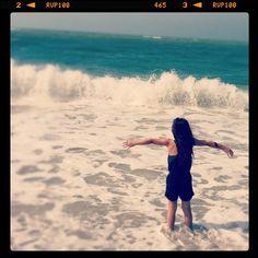 Lauren in the sea