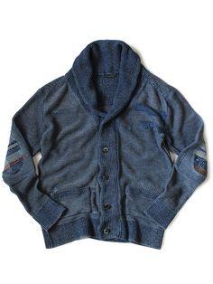 Grunge BORO shawl cardigan - KAPITAL