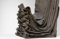 Miku Watanabe (folded clay sheets) #ceramic #abstract #sculpture