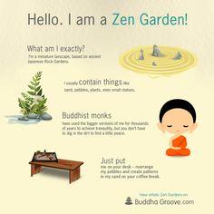 Zen Gardens are miniature landscapes, based on Japanese rock gardens.