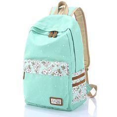 VLike Rücksack Rucksäcke Rucksack Backpack Daypack Schulranzen Schulrucksack Wanderrucksack Schultasche Rucksack für Schülerin Mädchen (Hell Grün)