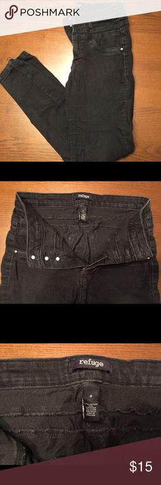 Black Refugee high top jeans Black Refugee high top pants, good condition, 3 buttons. refuge Pants Skinny