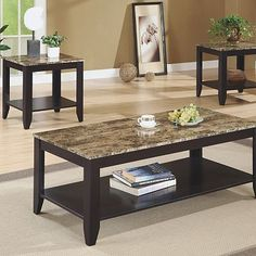 Monarch 3-pc. Coffee and End Table Set $415